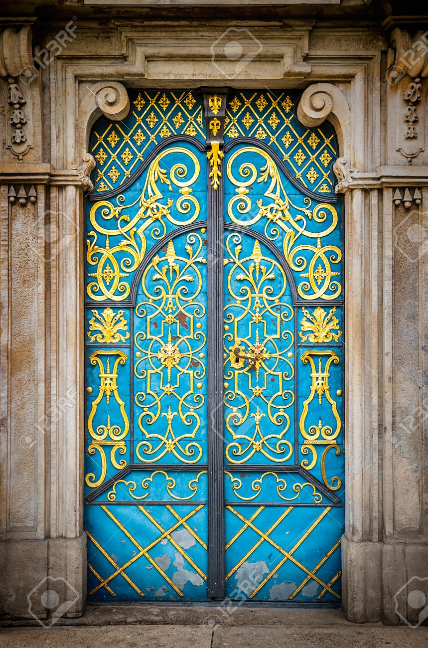 Architectural elements of the old European-style doors Stock Photo - 29725338 & Architectural Elements Of The Old European-style Doors Stock Photo ...