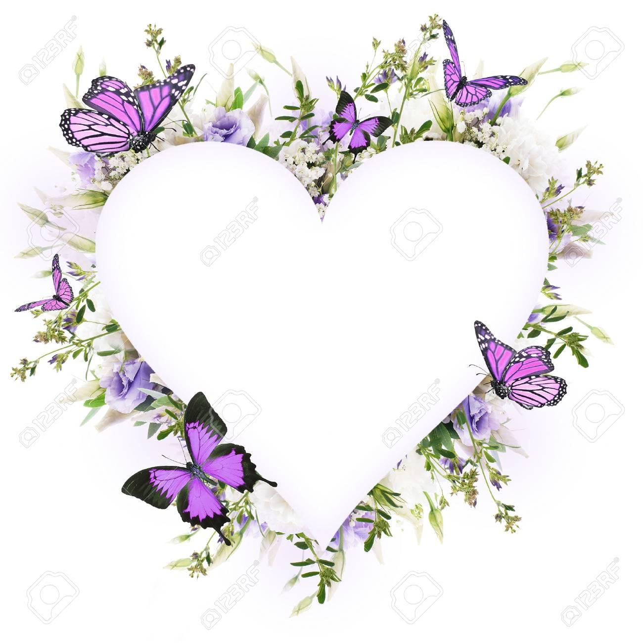 Brautstrauß Aus Weißen Und Rosa Blumen Schmetterling Lizenzfreie