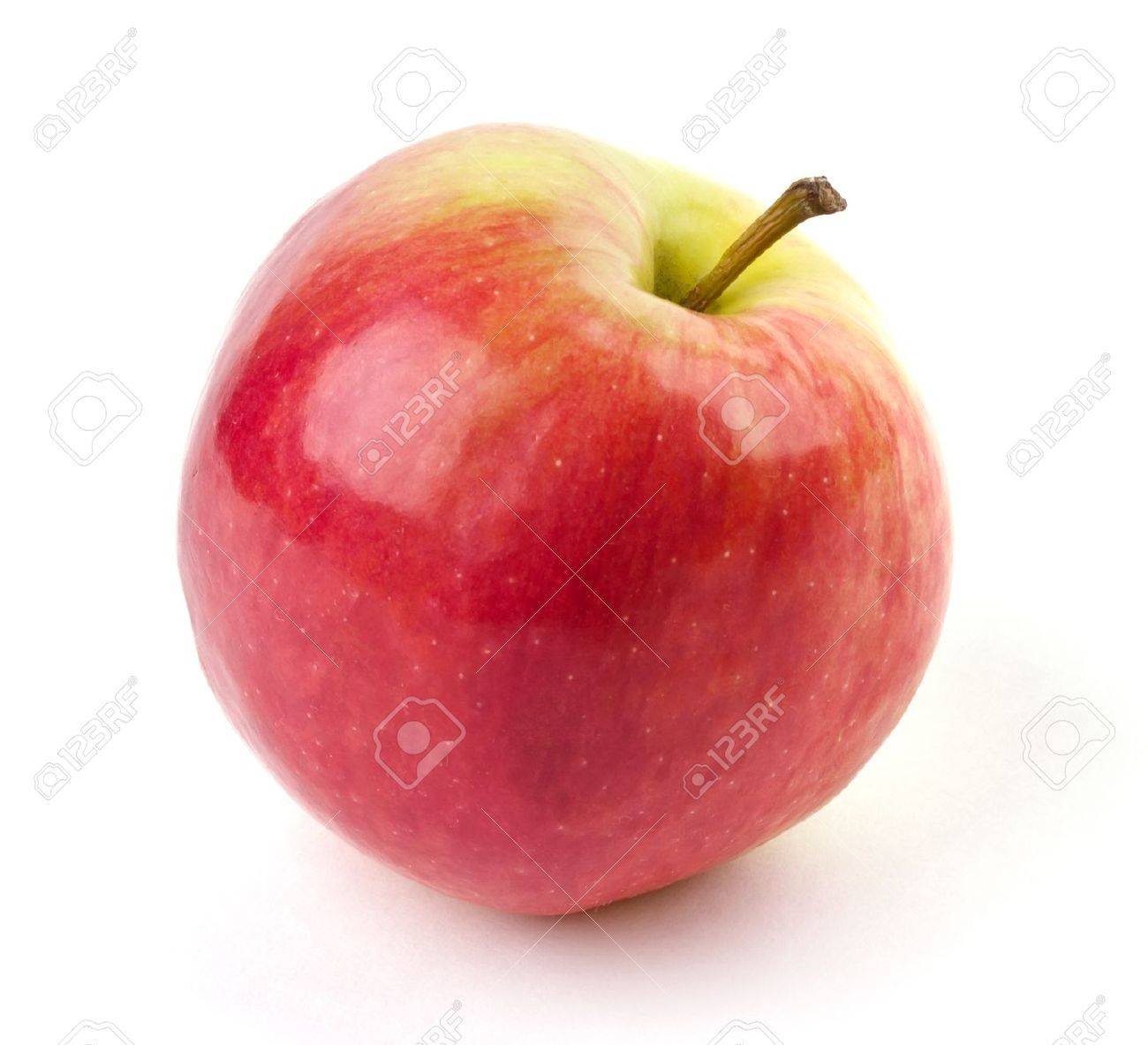 Ripe juicy apple isolated on white background Stock Photo - 9849406