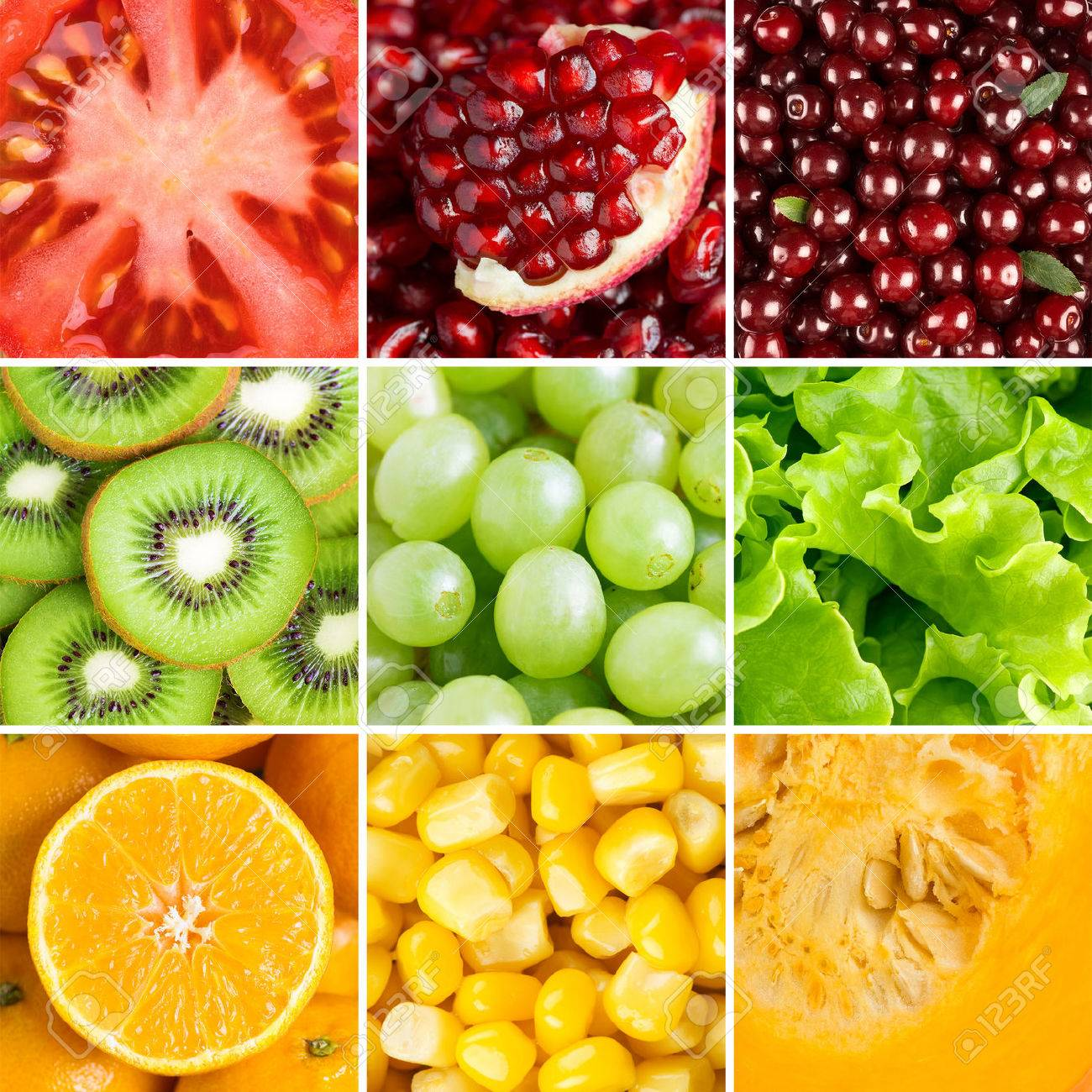 Healthy food background  ollection with different fruits, berries