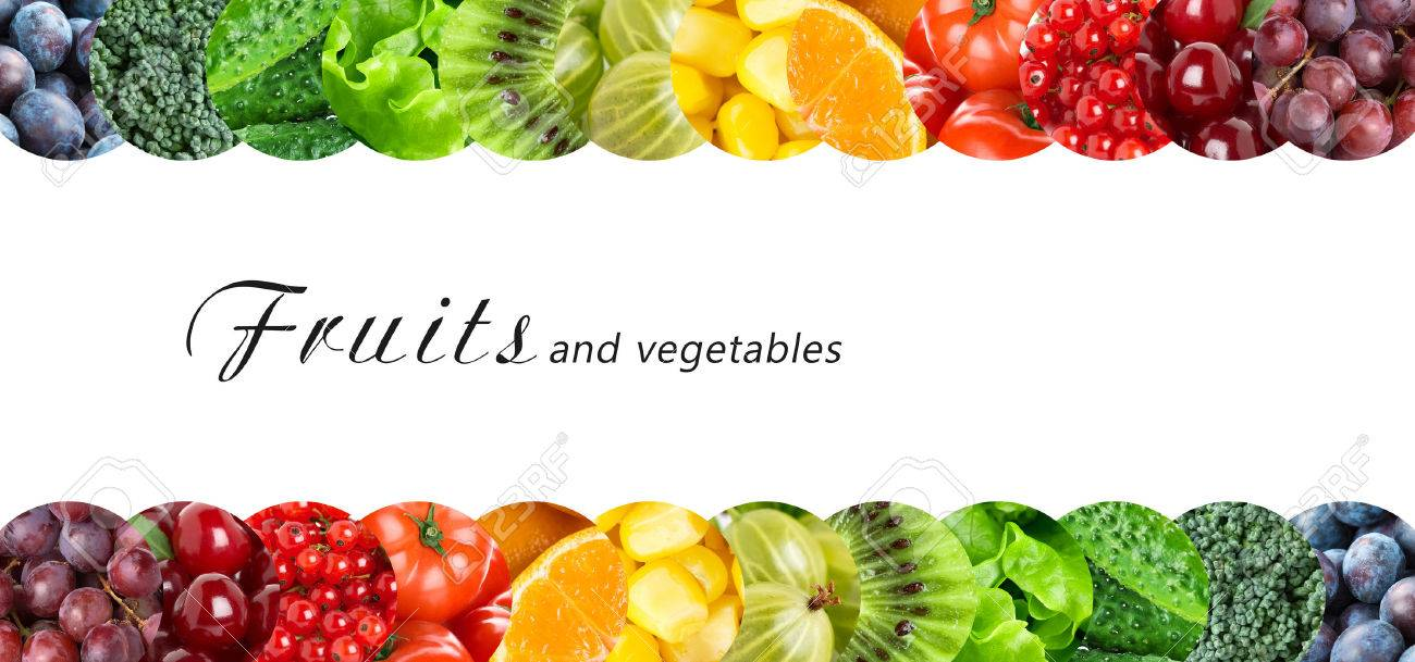 Fresh fruits and vegetables. Healthy food concept Stock Photo - 44980593