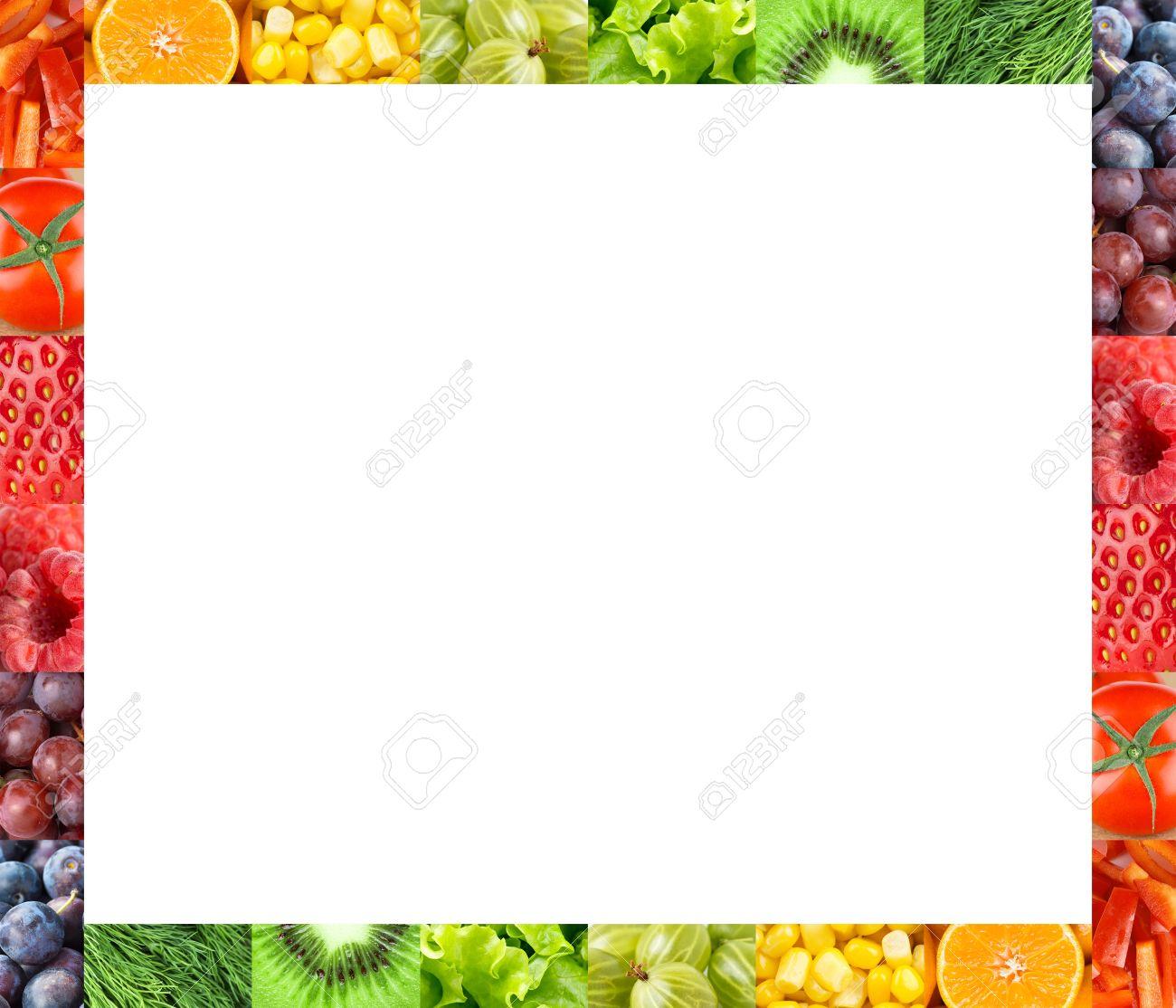 Frisches Obst Und Gemüse Rahmen. Begriff Lizenzfreie Fotos, Bilder ...