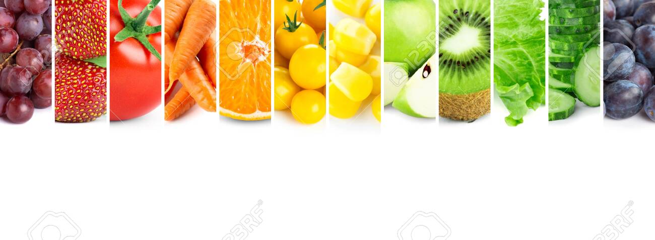 Fruits and vegetables. Fresh color food - 152273135