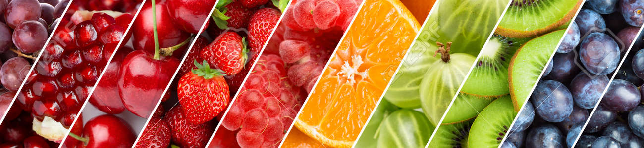 Fruits. Background of fresh food. Color ripe fruits - 152273110