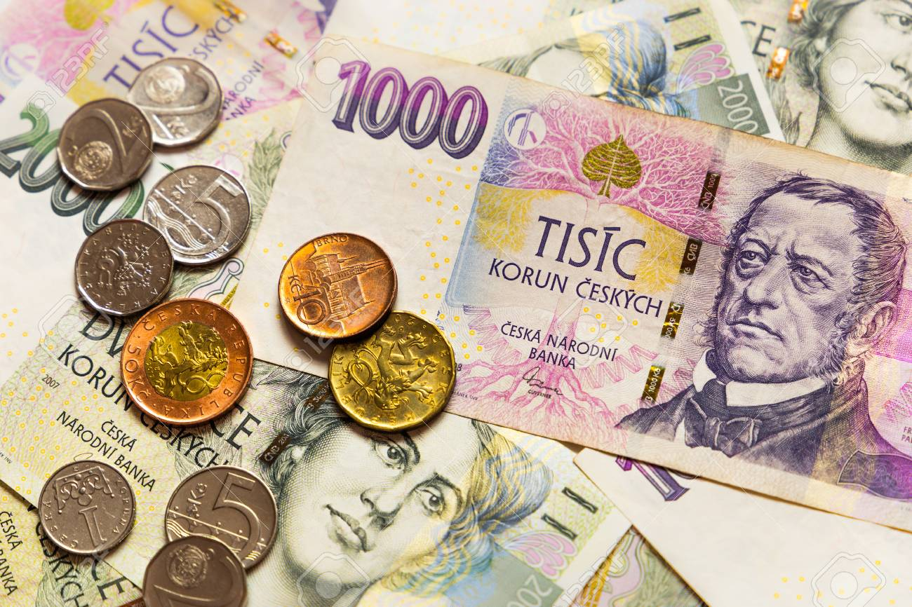 Czech money close-up on - 122481638