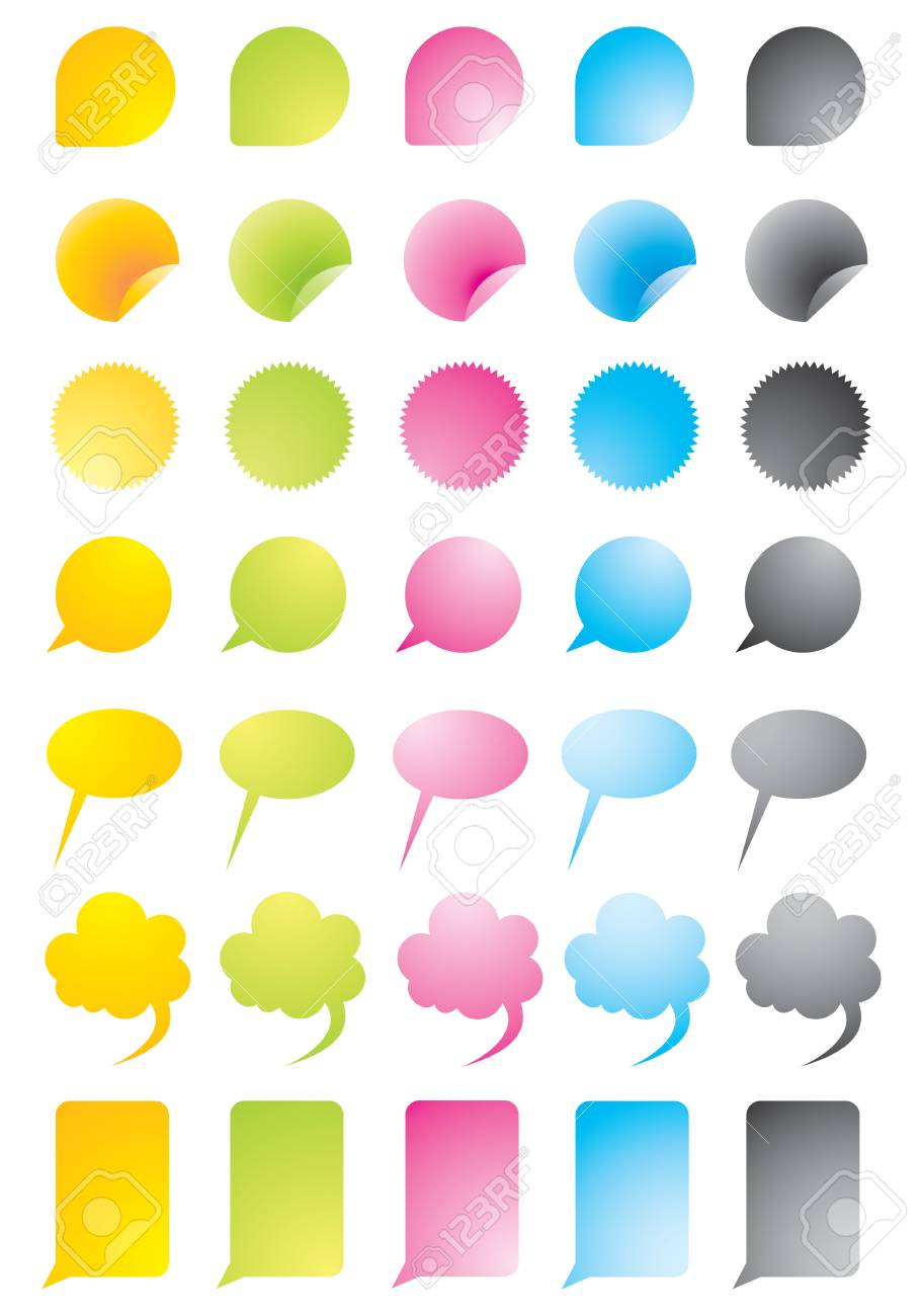 Set of colour vector icons for the Internet Stock Vector - 5588875