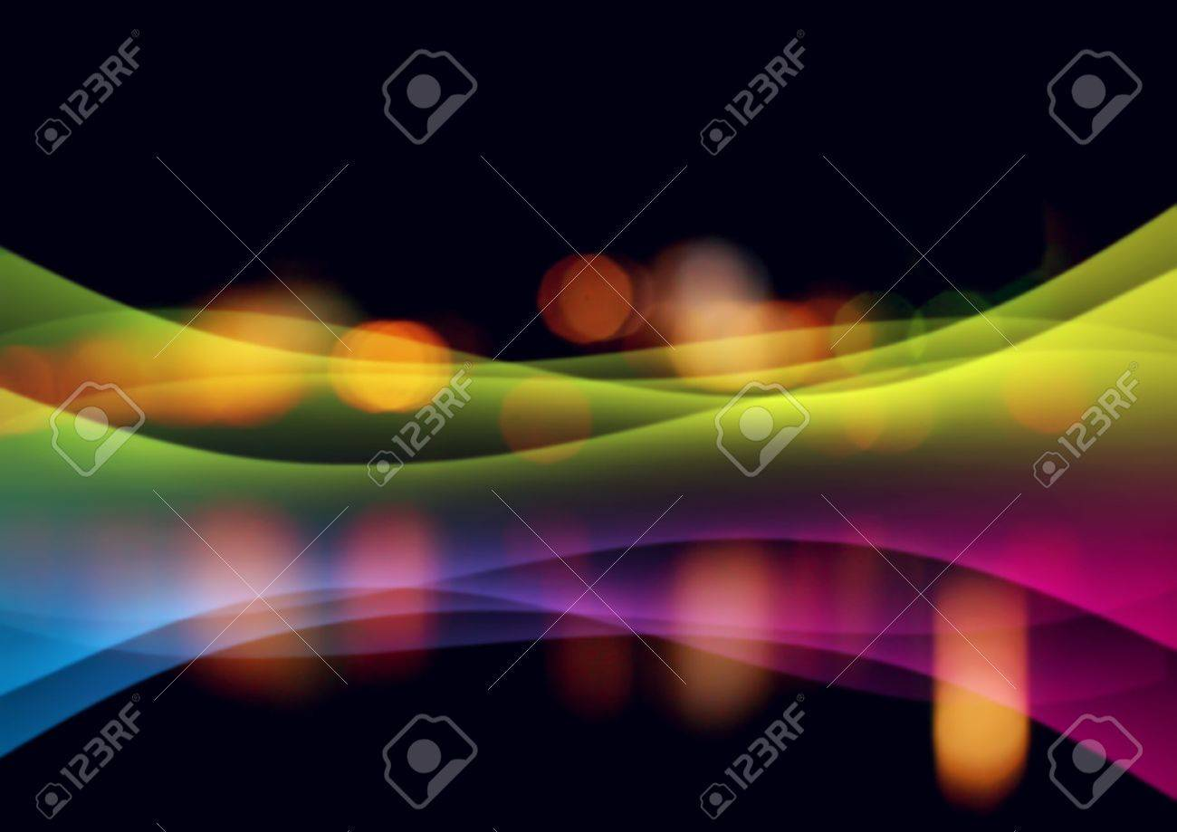 Abstract background with shone bright multi-coloured lines Stock Photo - 5867836