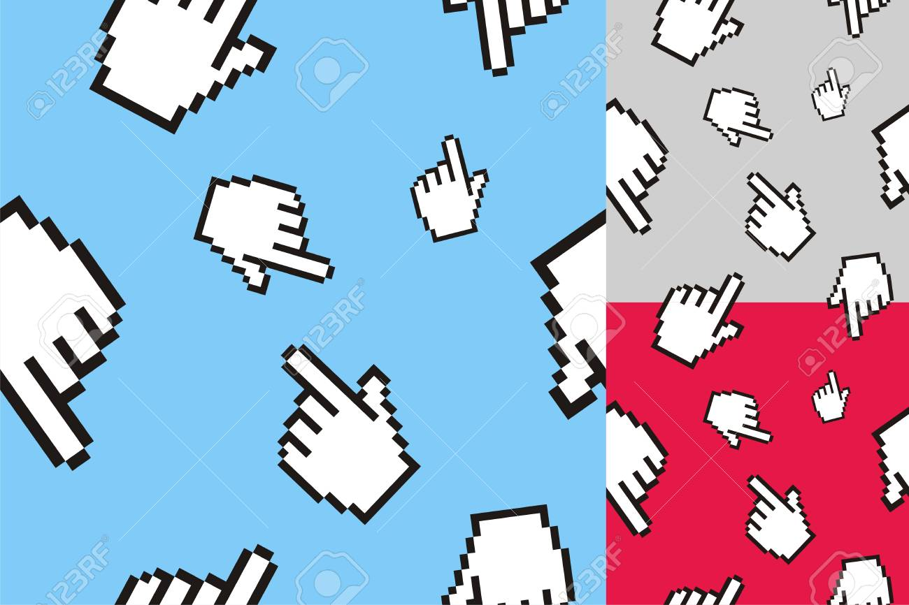The pattern of the computer cursor Stock Vector - 7731015