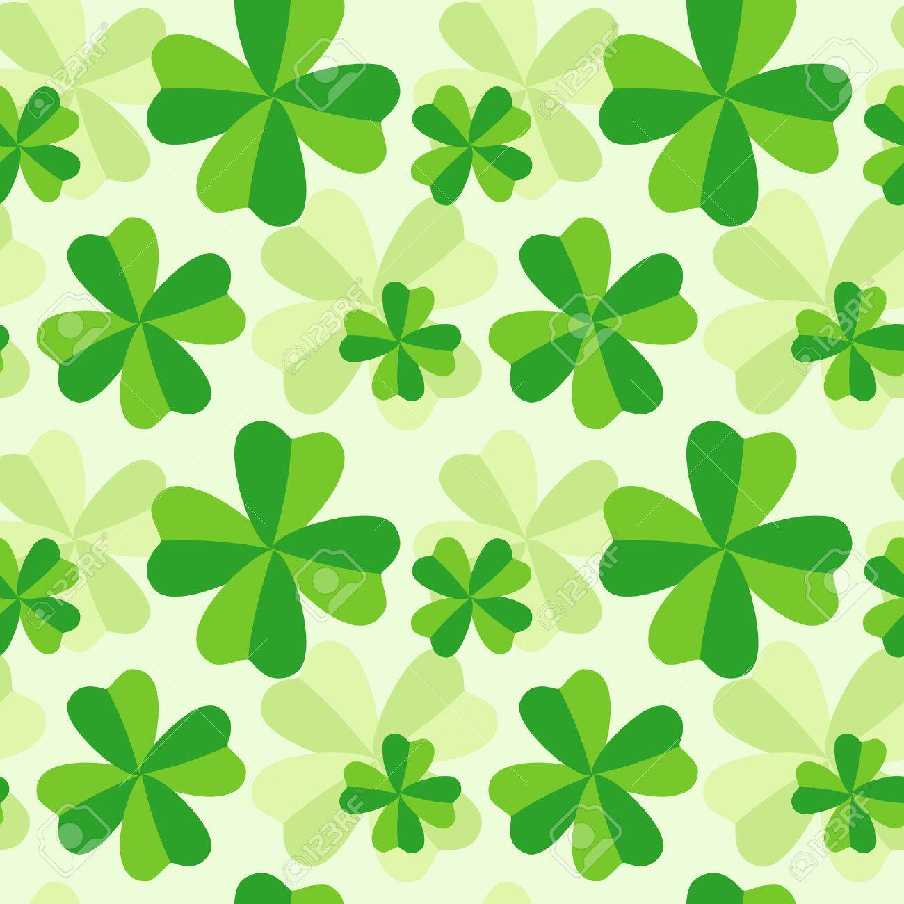 The pattern of four leaf green clover Stock Vector - 8905444