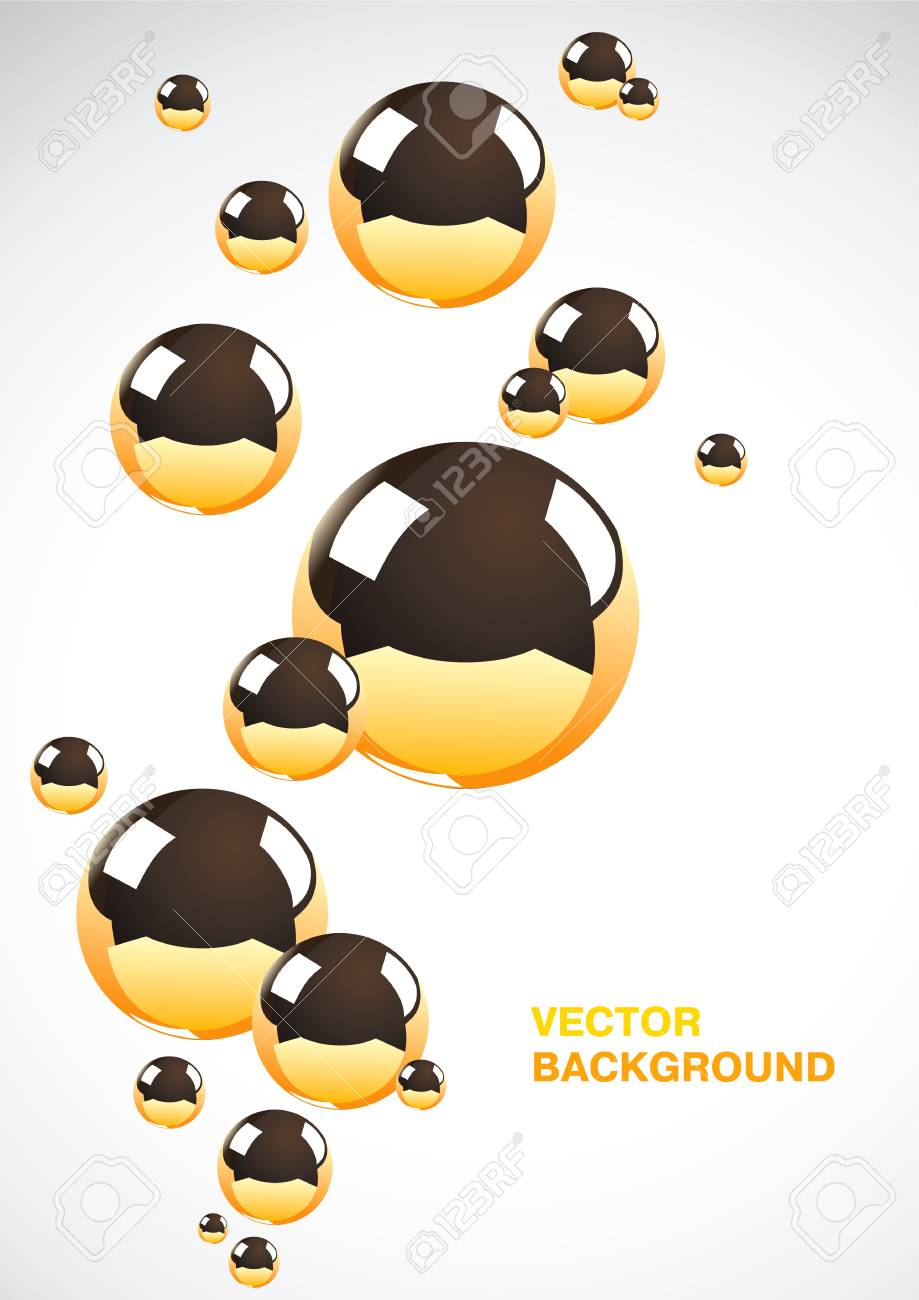 Abstract background of a set of metal balls Stock Vector - 9355494