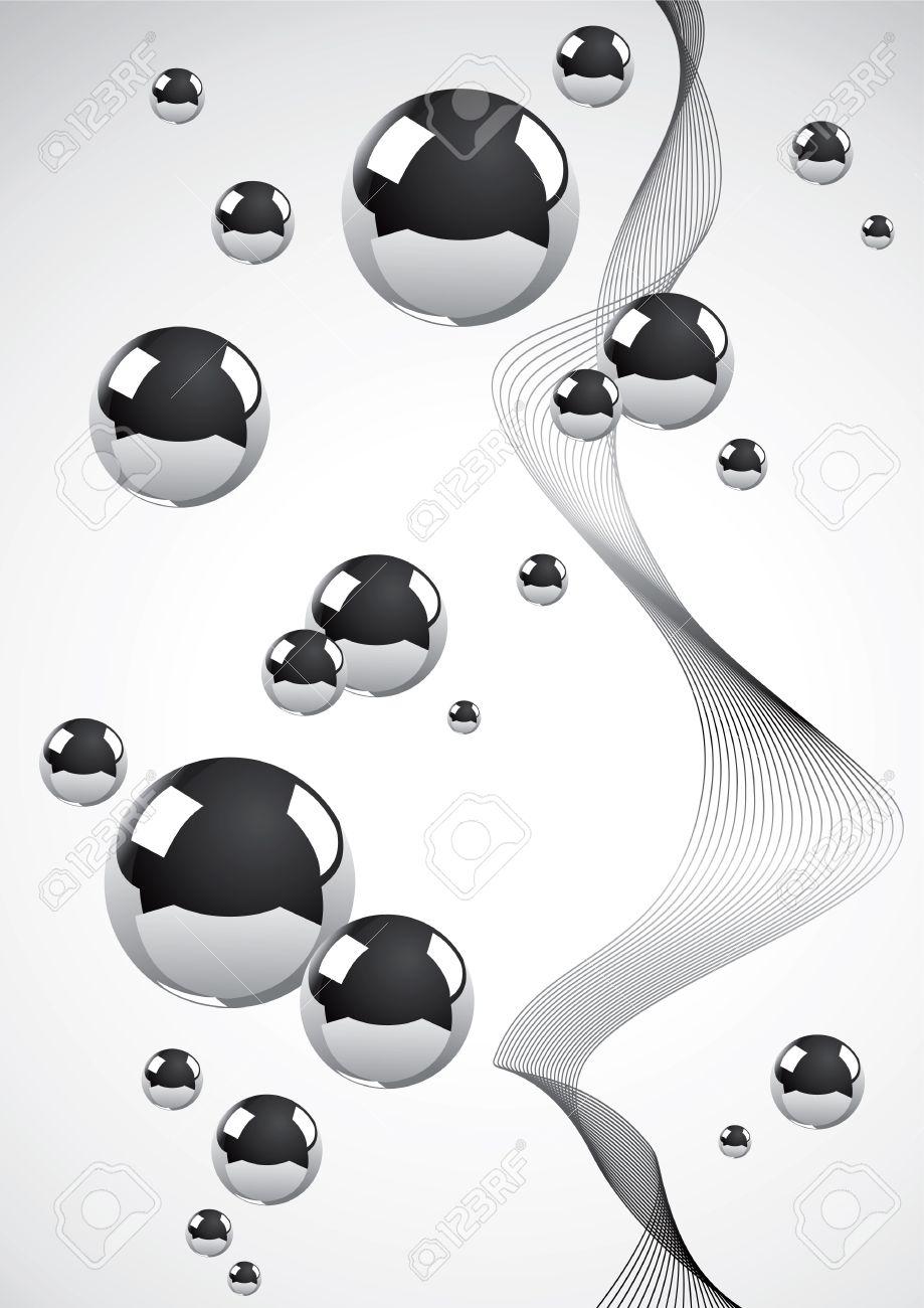 Fondo abstracta de un conjunto de bolas de metal Foto de archivo - 9413074