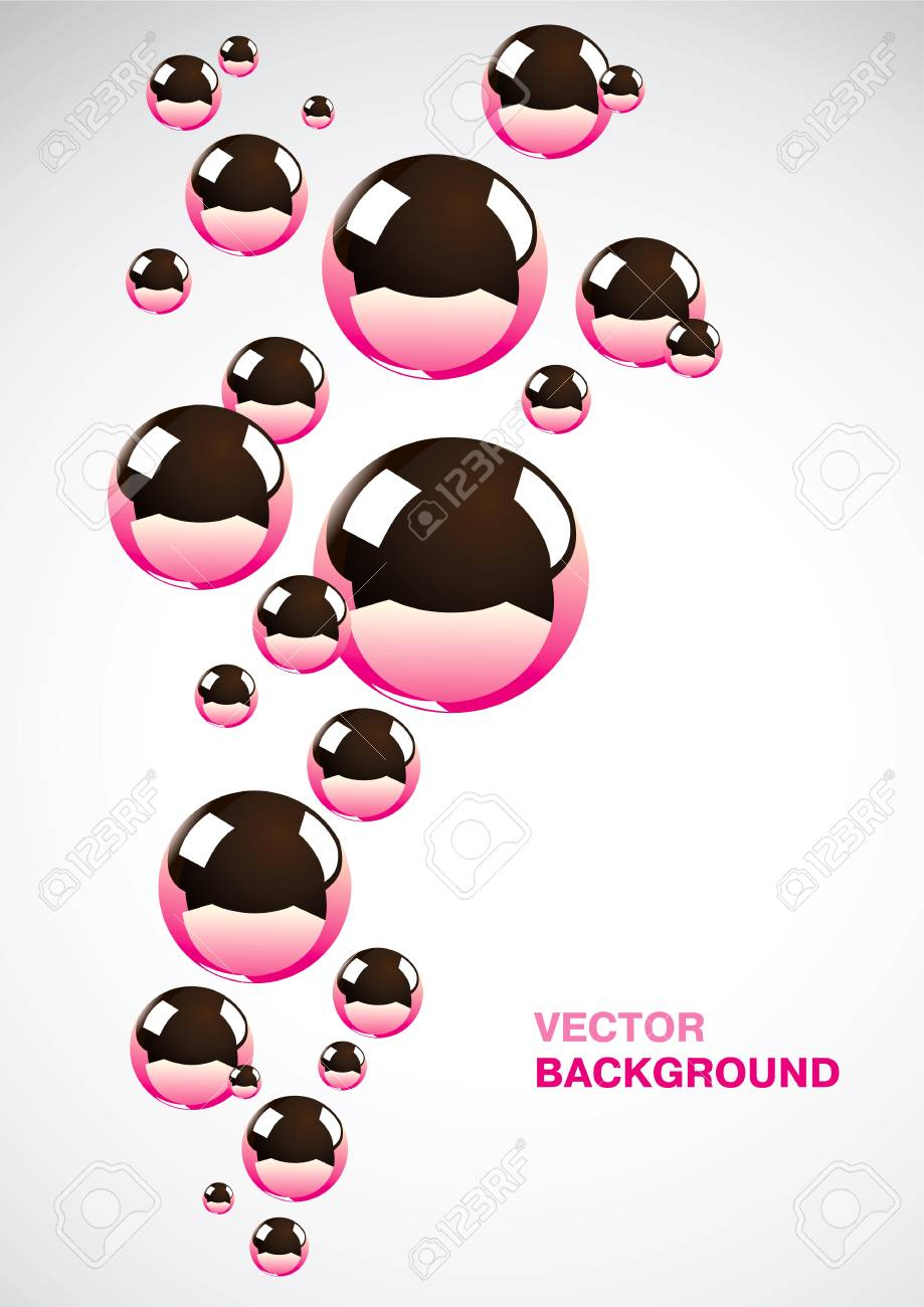 Abstract background of a set of metal balls Stock Vector - 9413075