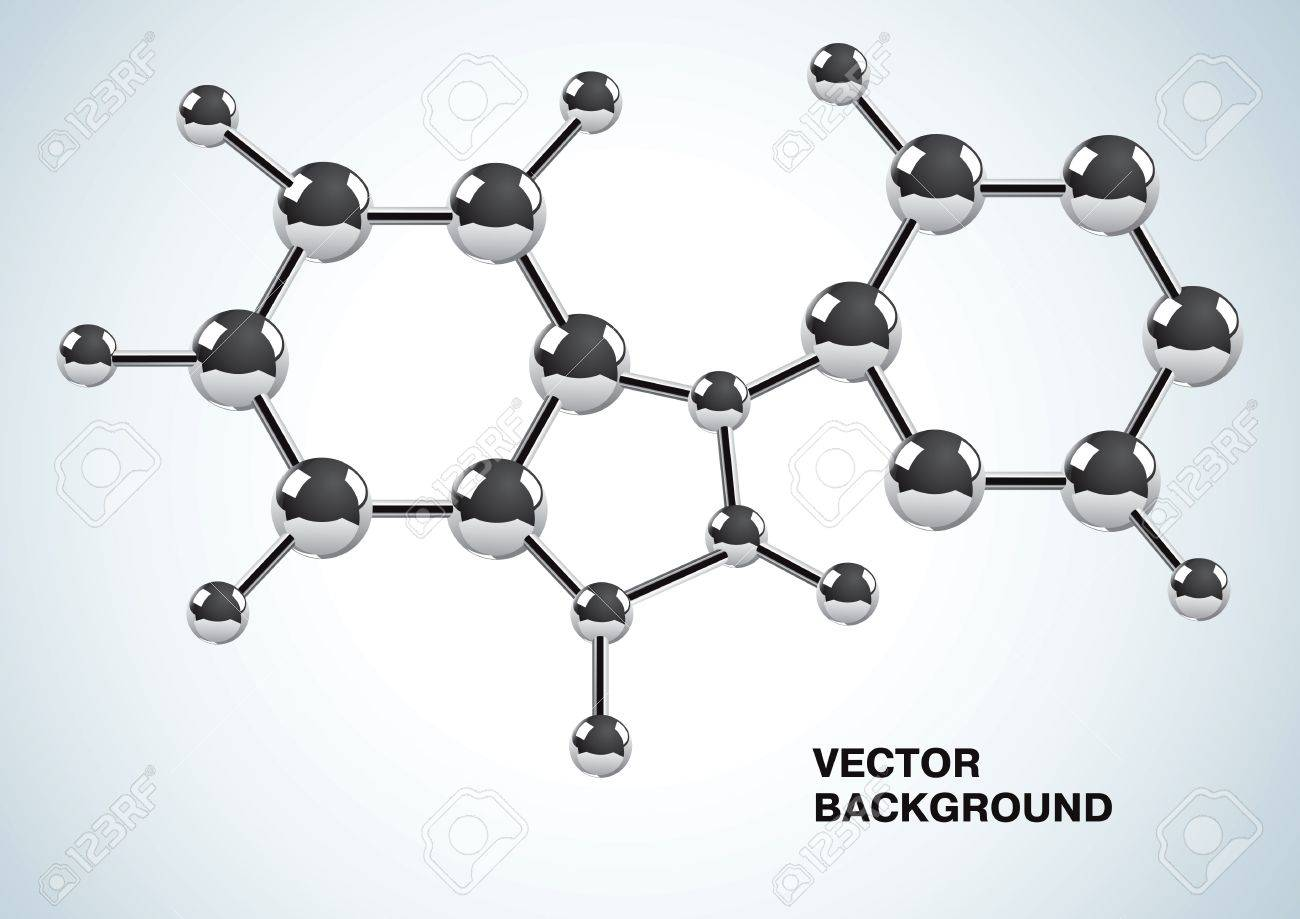 Illustration of the chemical formula consisting of molecules Stock Vector - 10543736