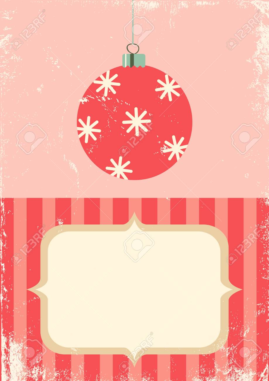 Illustration of Christmas ball in vintage style Stock Vector - 11083489