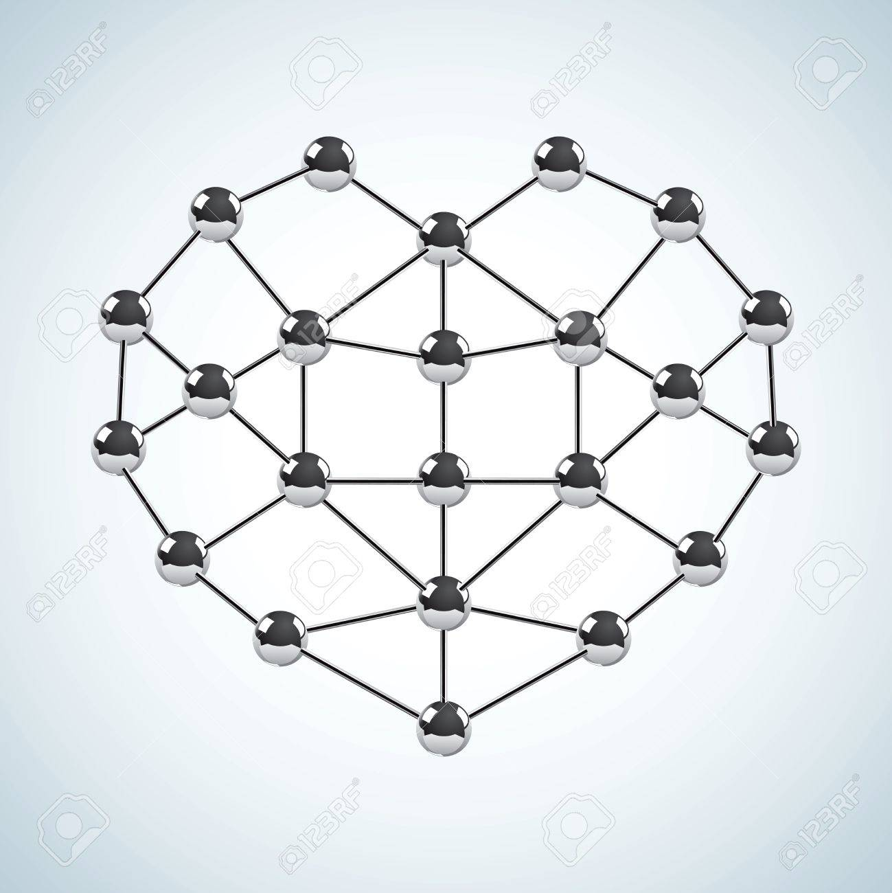 Chemical structure in the form of heart Stock Vector - 12491699