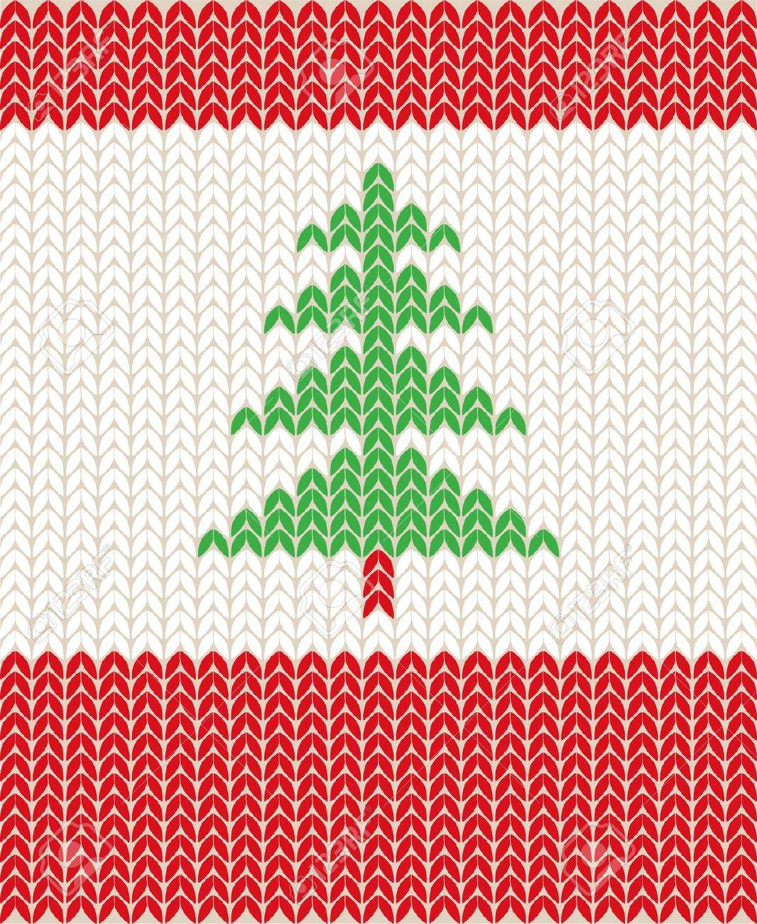 Illustration Of Christmas Knitting Pattern Royalty Free Cliparts ...