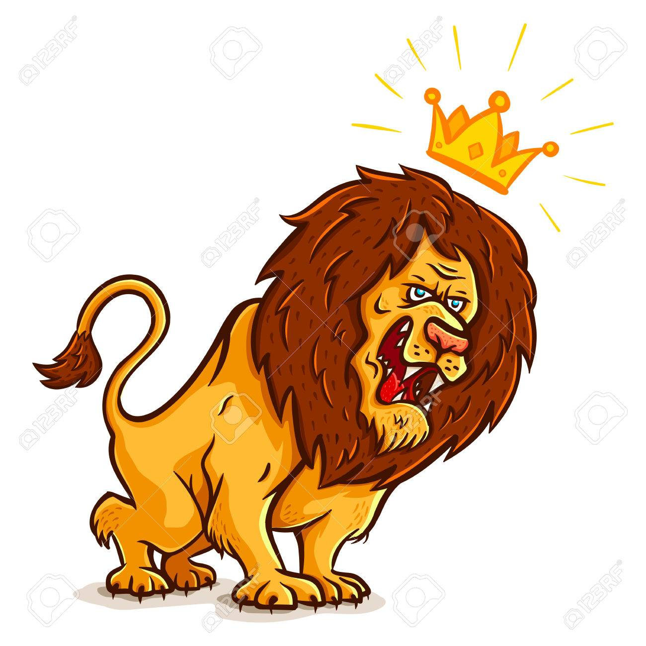 vector illustration of an angry lion with crown royalty free rh 123rf com vector lion fish vector lion fish free