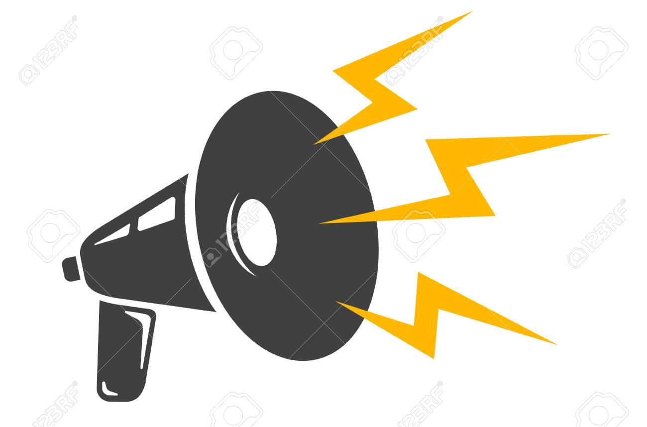 a vector icon of vintage megaphones vector retro megaphone royalty rh 123rf com megaphone icon vector free