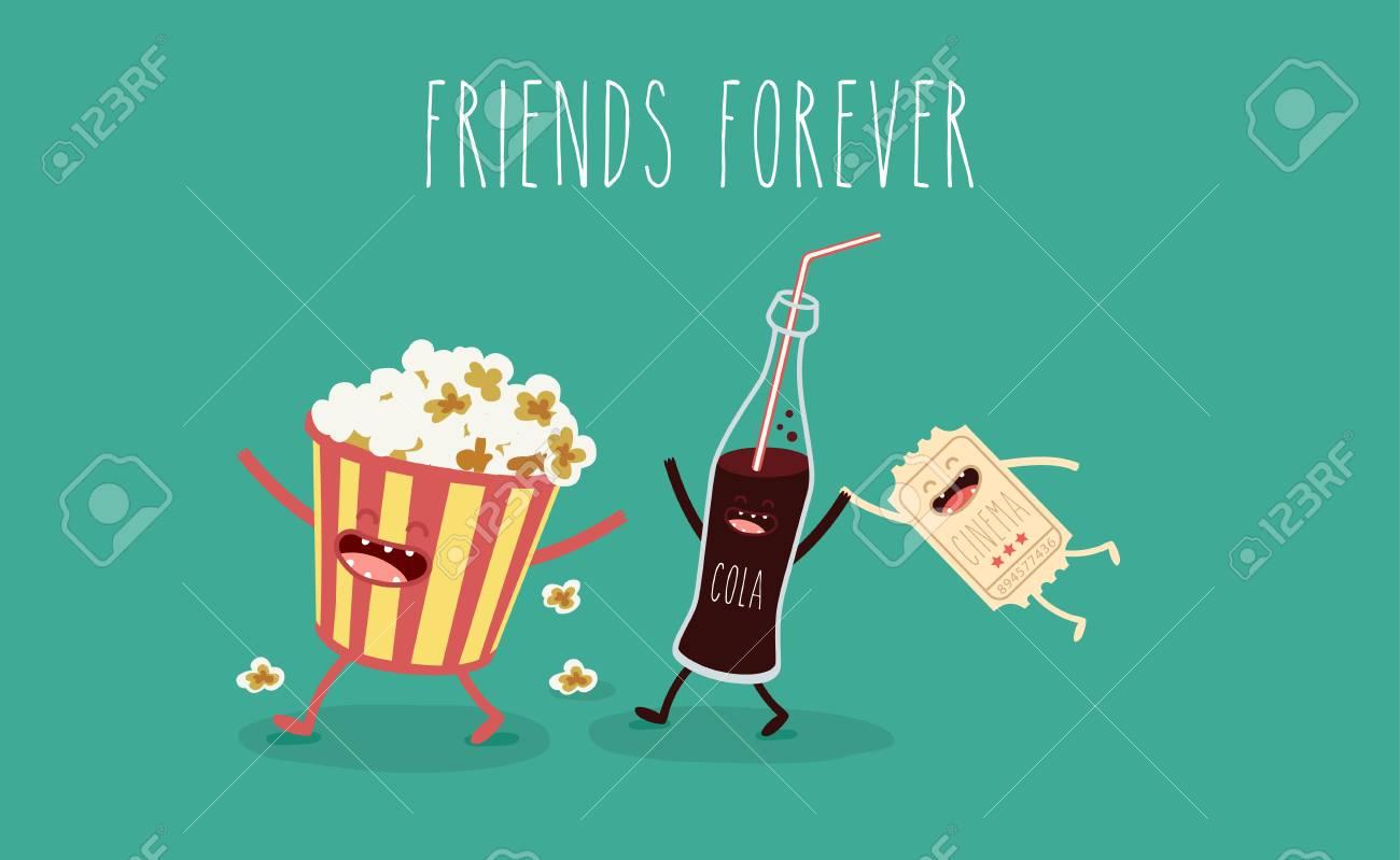 Freunde Für Immer, Popcorn, Filmticket, Cola, Filme, Kino ...