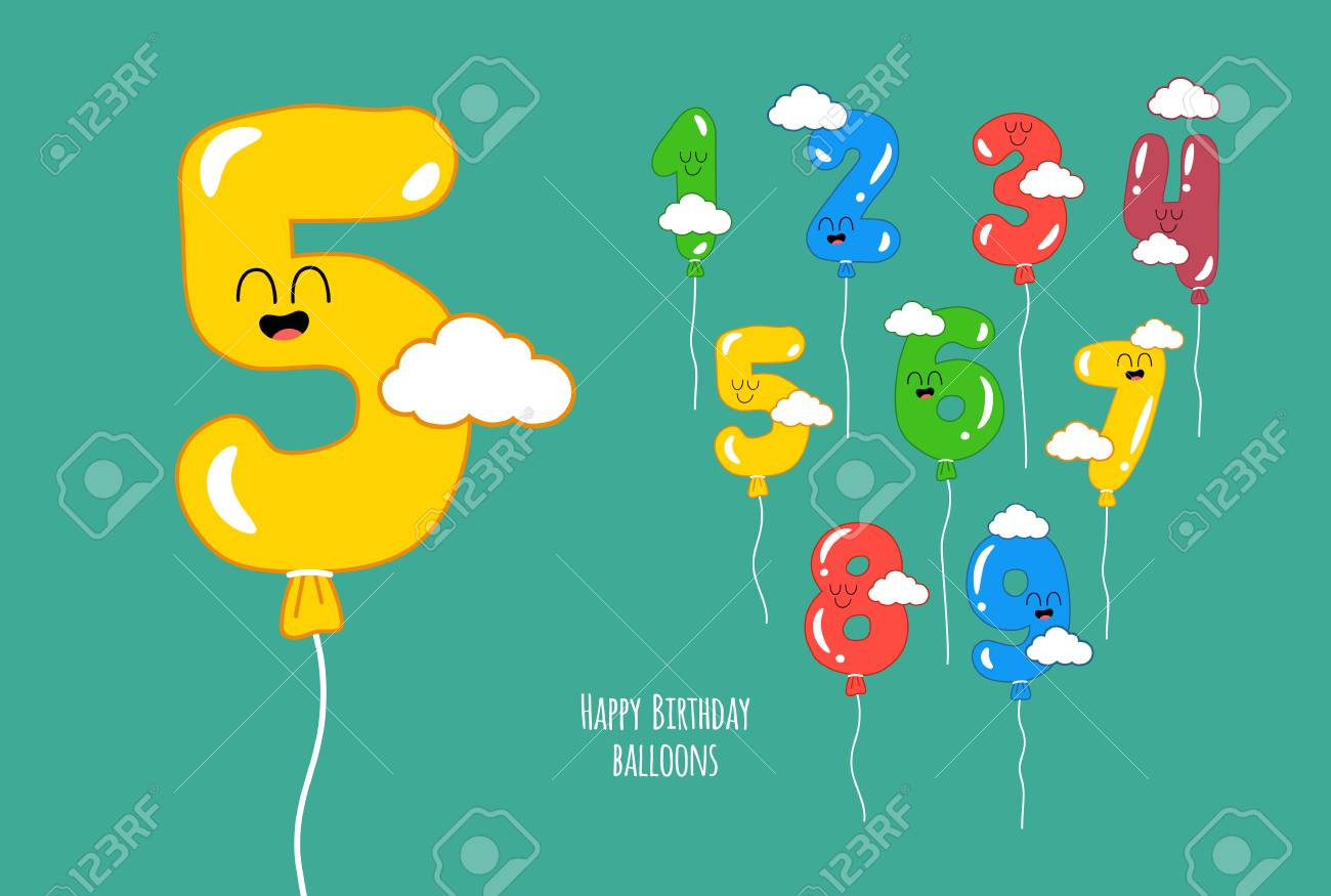 Happy Birthday Numbers Will Make Your Congratulations Unforgettable Vector Graphics Standard Bild