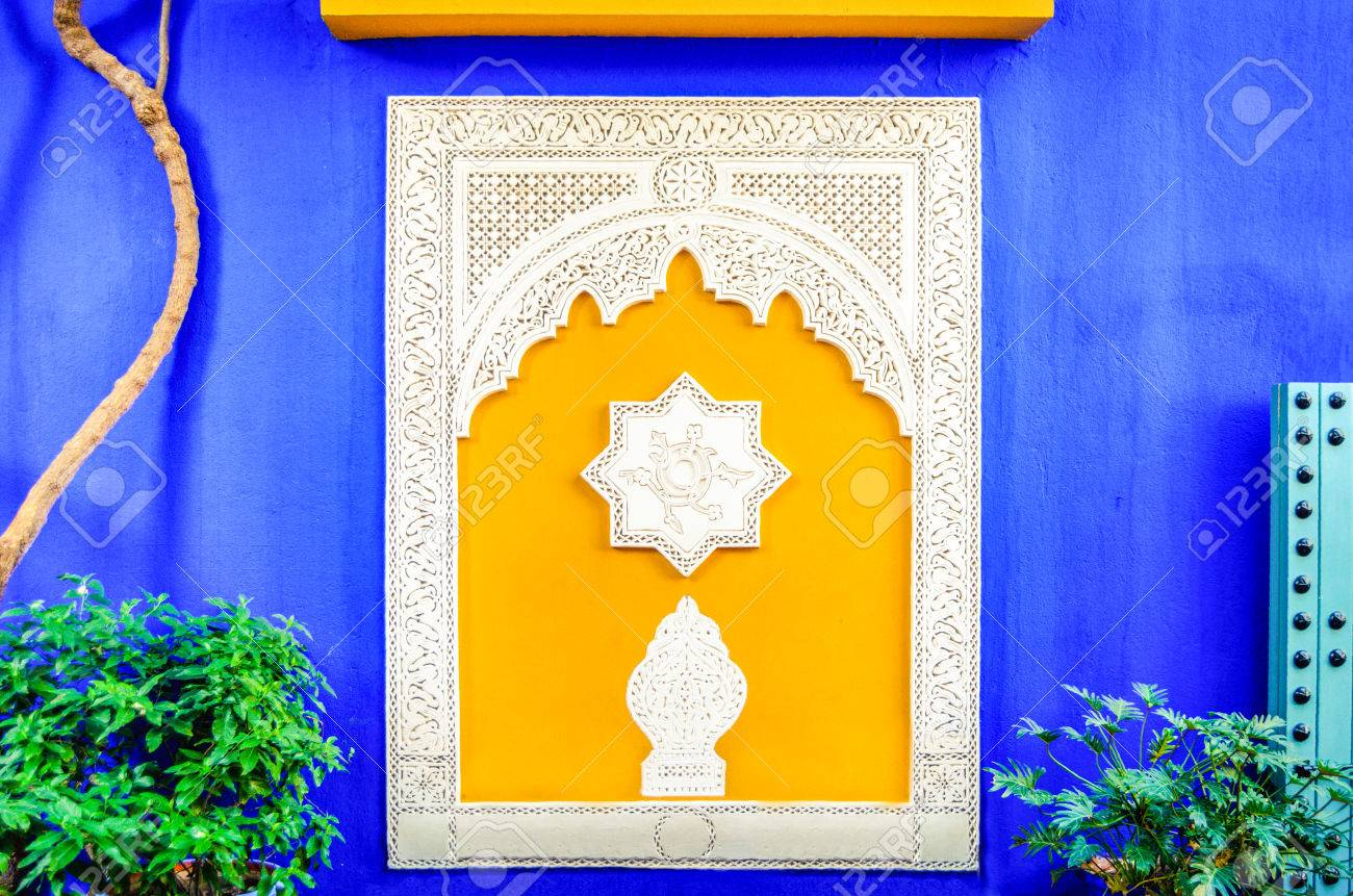 Colorful Window In Jardin Majorelle Former Residence Of Fashion