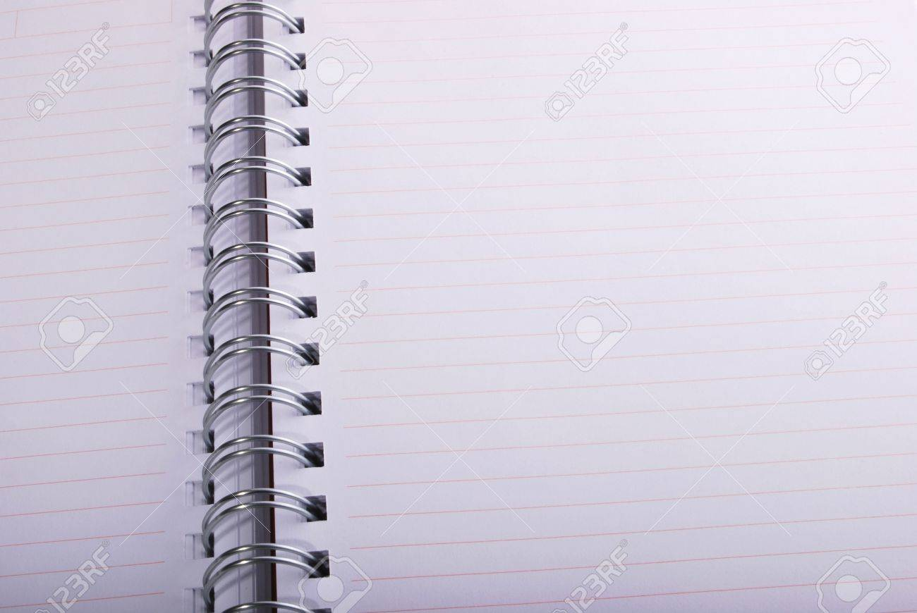 Blank spiral notebook ready for writing Stock Photo - 11099510