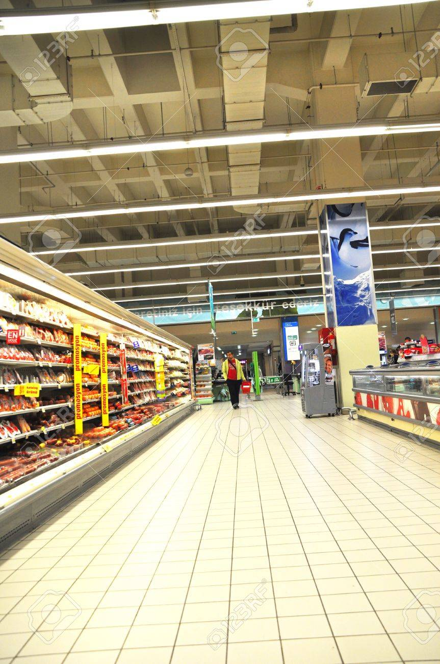 Istanbul Maltepe Carrefour has opened a new branch. Delicatessen section Stock Photo - 11305488