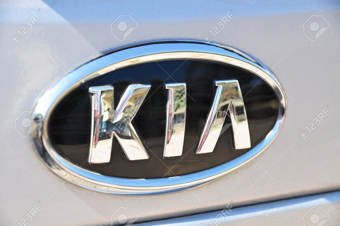 Kia logo on a wet gray car stock photo picture and royalty free kia logo on a wet gray car stock photo 11390248 biocorpaavc Image collections