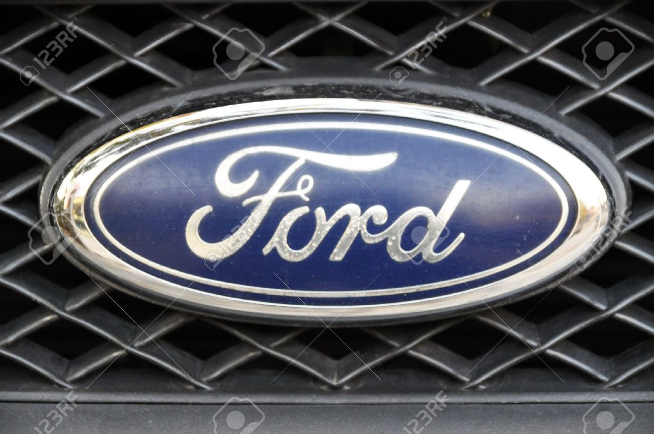 Close up ford logo chrome metal stock photo picture and royalty close up ford logo chrome metal stock photo 11379667 voltagebd Choice Image