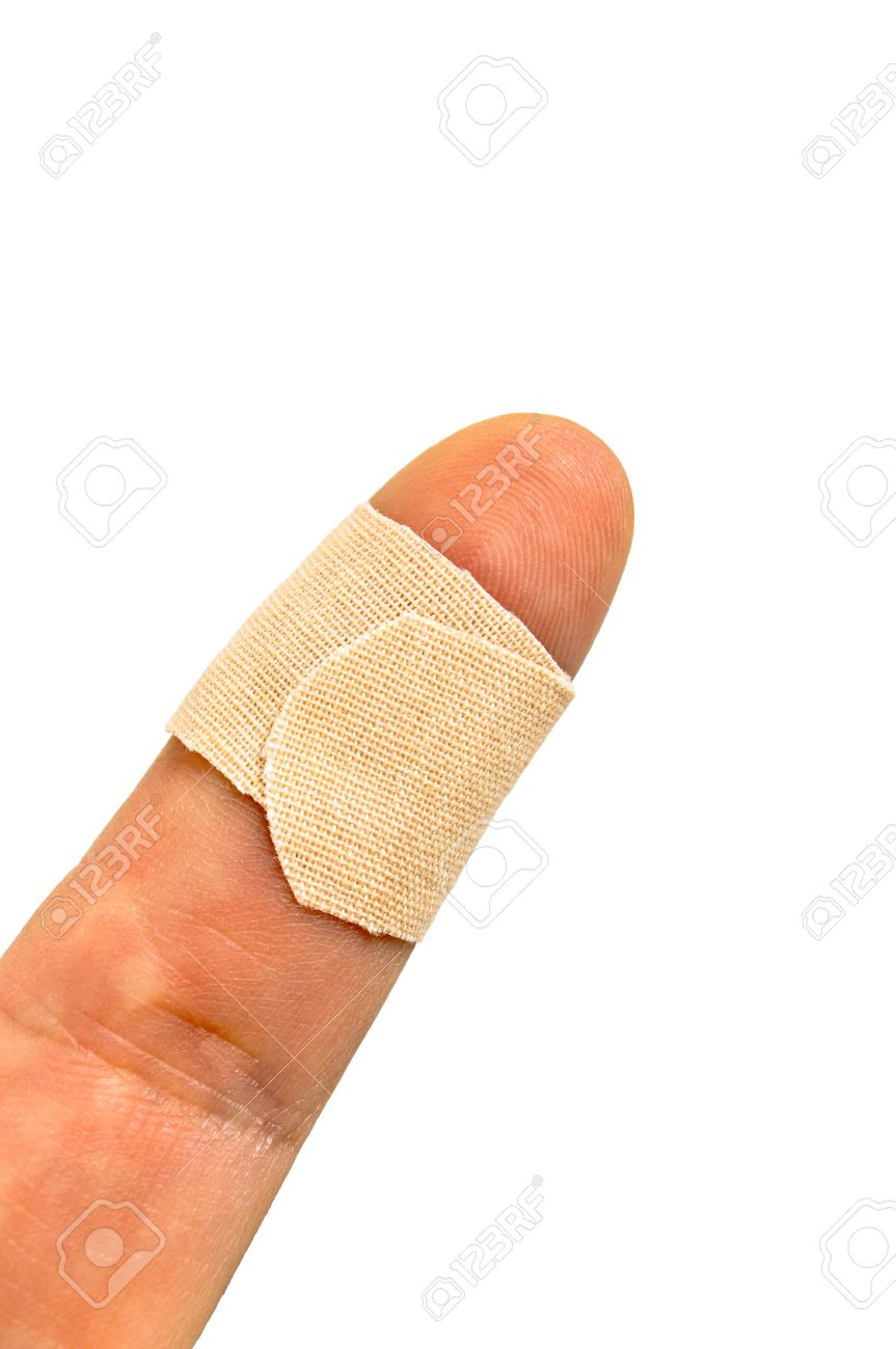 closeup of band aid on finger stock photo picture and royalty free