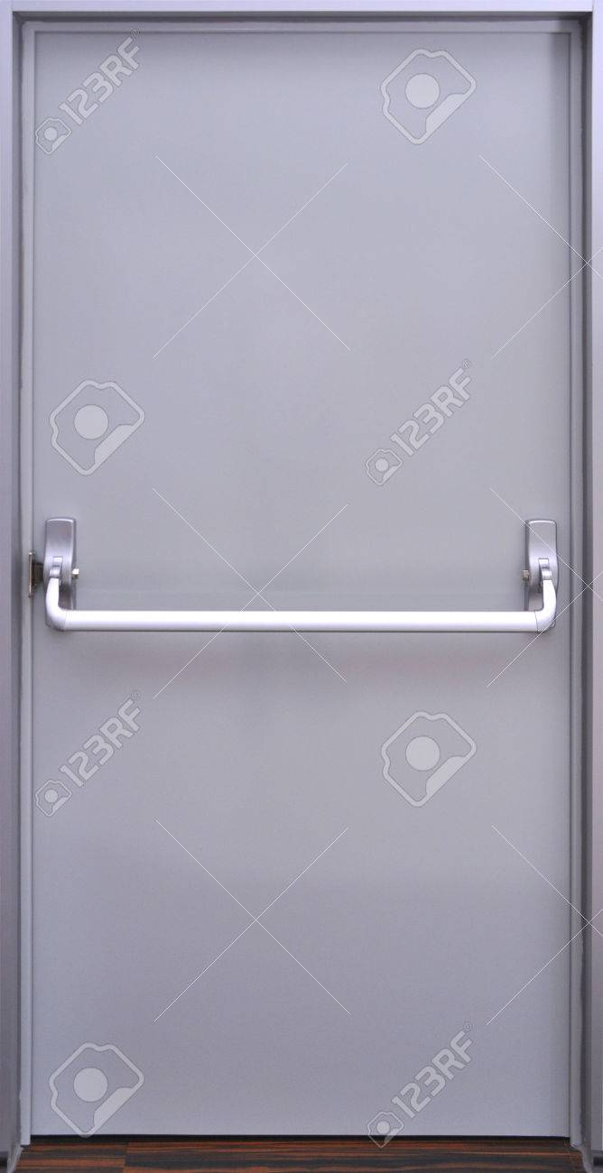 Stock Photo   The Details Of The Emergency Exit Door Handle