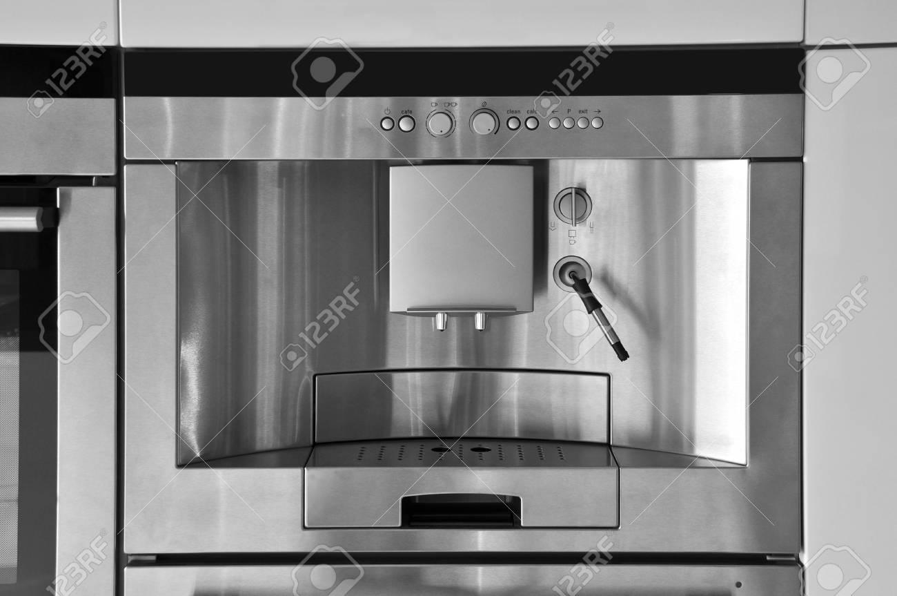 cucina moderna macchina da caffè in acciaio inox foto royalty free d0bae26d4751
