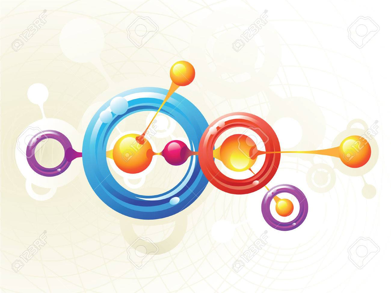 Molecule rings Stock Vector - 4215816