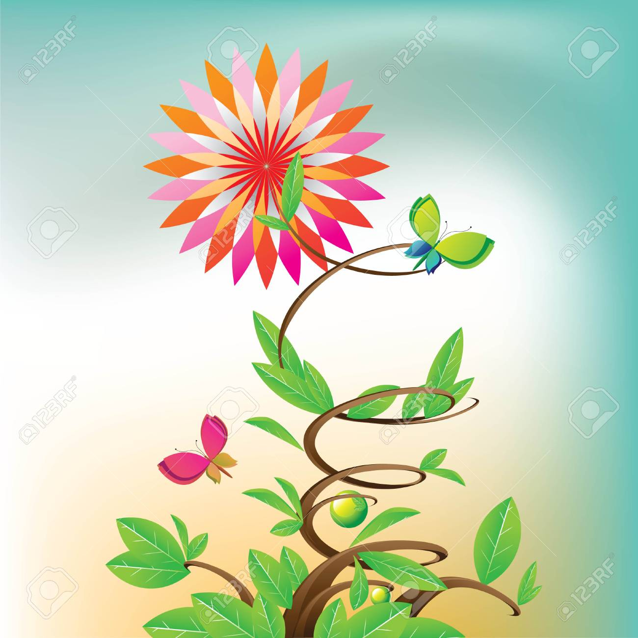 star flowers Stock Vector - 4888516
