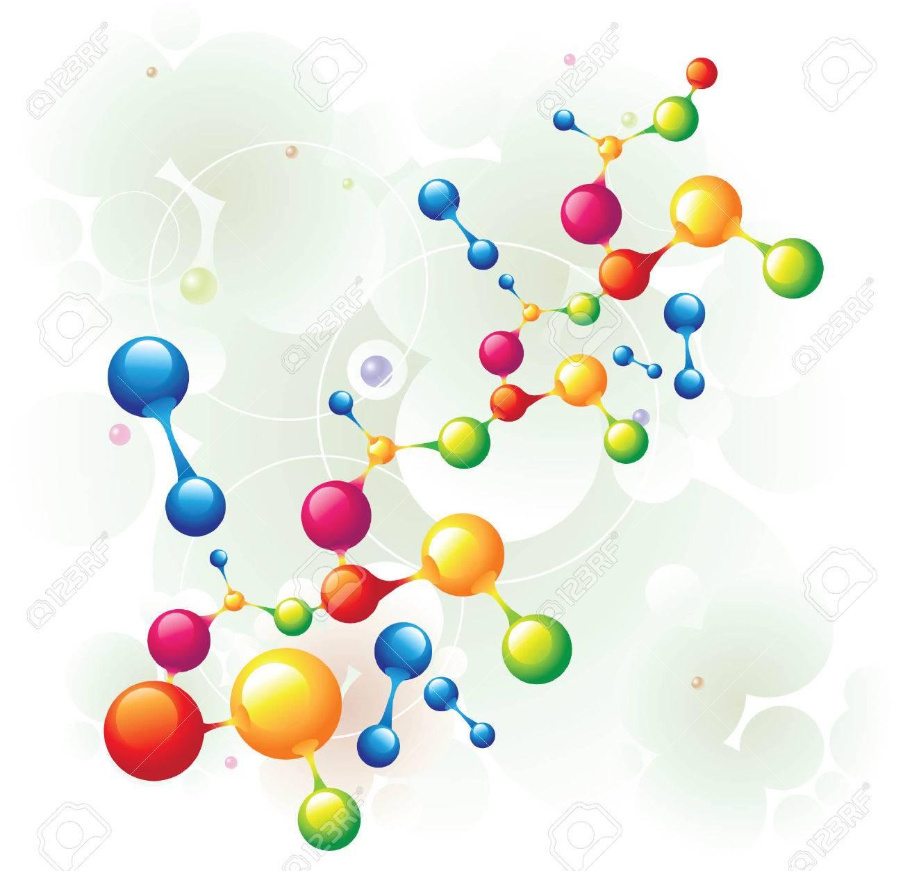 molecule mixed two Stock Vector - 5137730