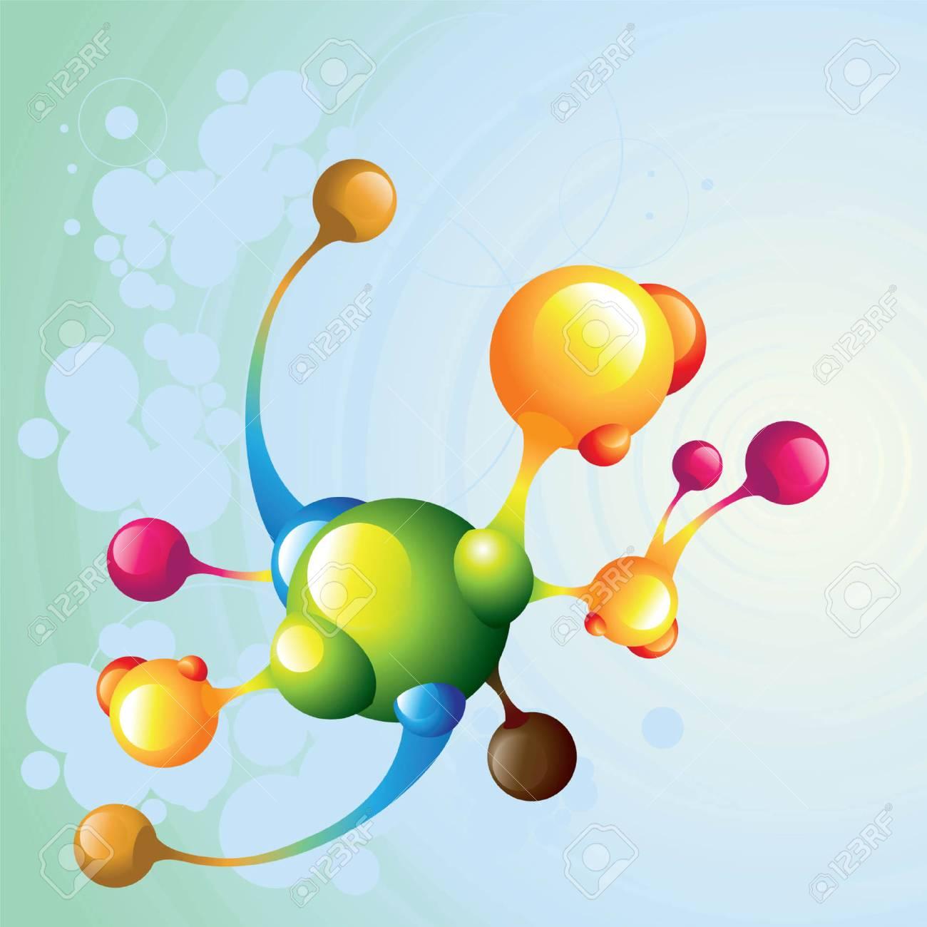 molecule dark2 Stock Vector - 5137714