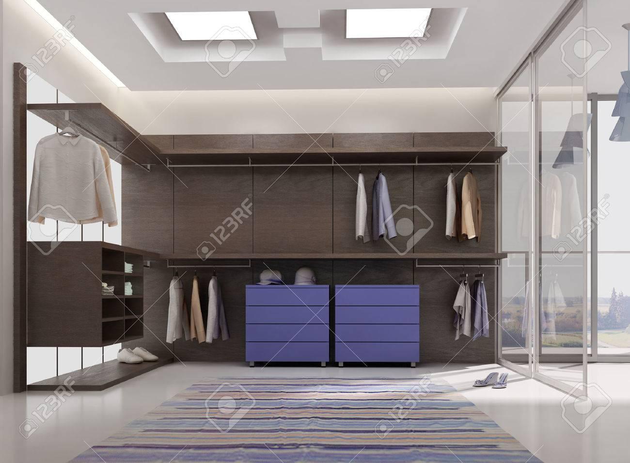 3d Render De L Appartement De Luxe Int Rieur De Dressing Banque D