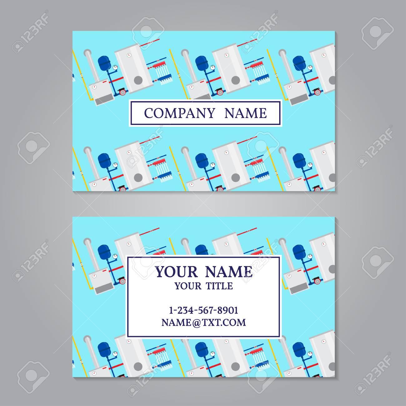 Creative Horizontal Business Card, Name Card Or Visiting Card ...