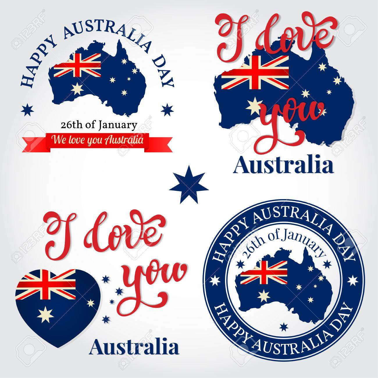 We love you australia badge label greeting card national we love you australia badge label greeting card national celebration happy australia m4hsunfo