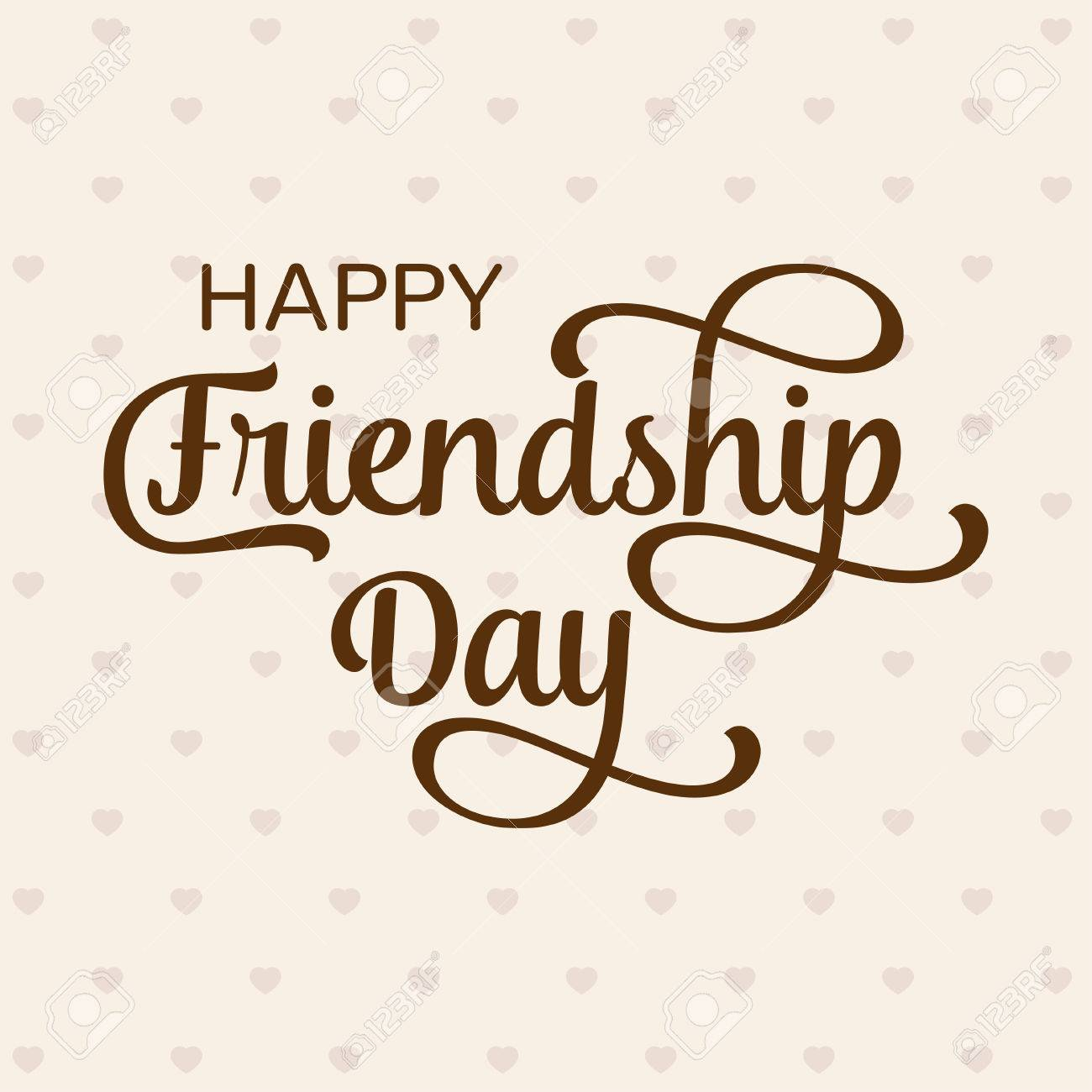 Happy Friendship Day Greeting Card For Poster Flyer Banner