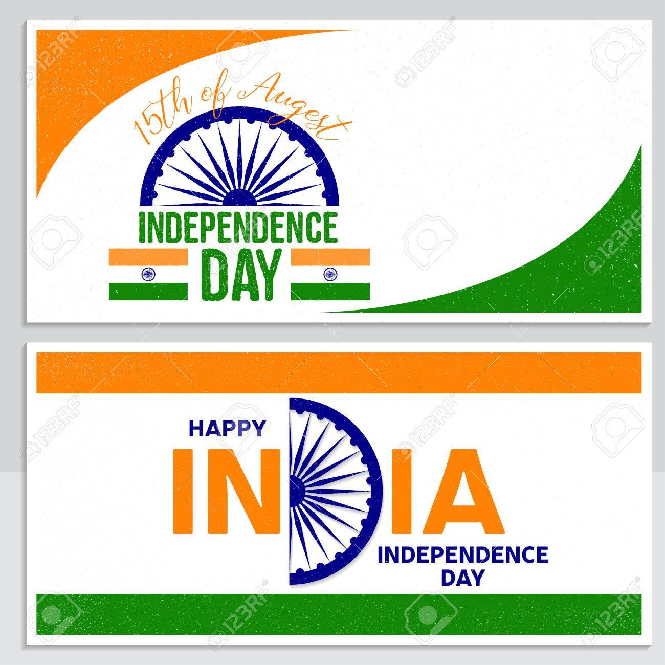 Tarjeta De Felicitación India Día De La Independencia, Cartel ...
