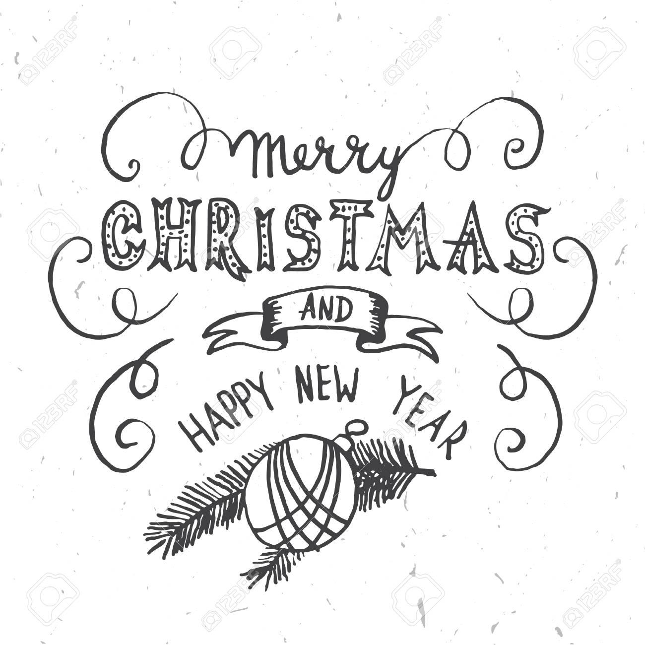 Frohe Weihnachten Schriftzug Design. Vektor-Illustration ...