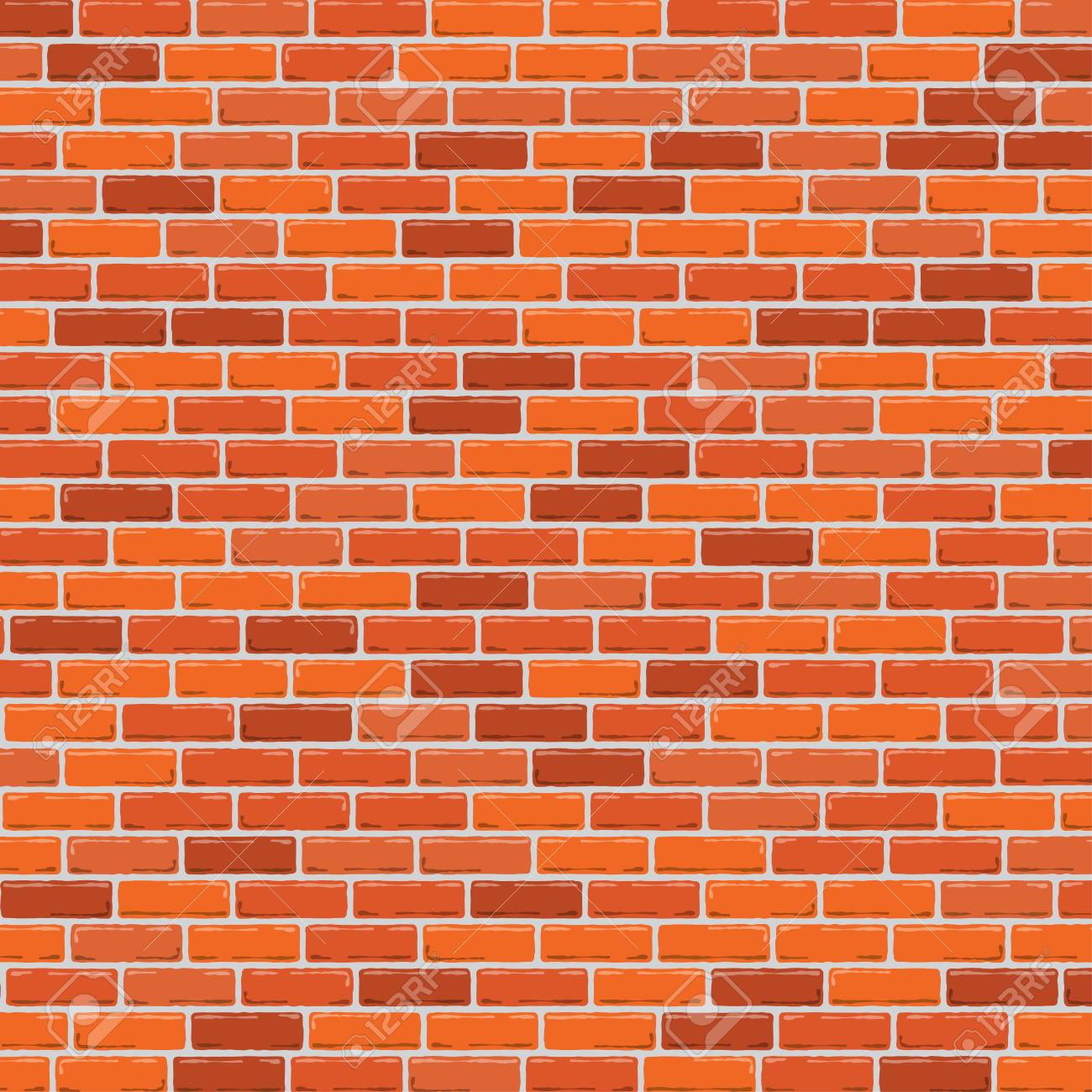 Red brick wall background. Vector illustration - 83739738