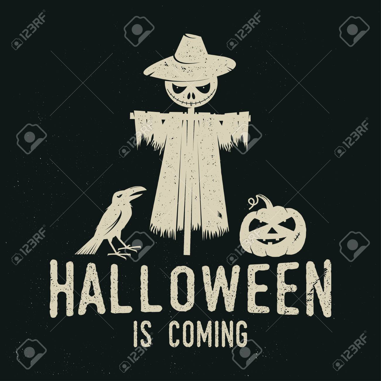 Halloween Is Coming Concept. Vector Illustration. Royalty Free ...