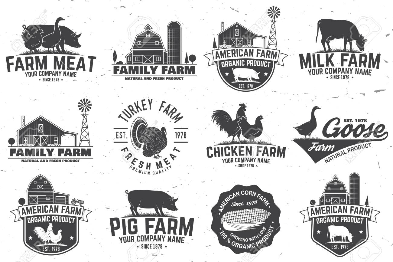 American Farm Badge or Label - 97609737