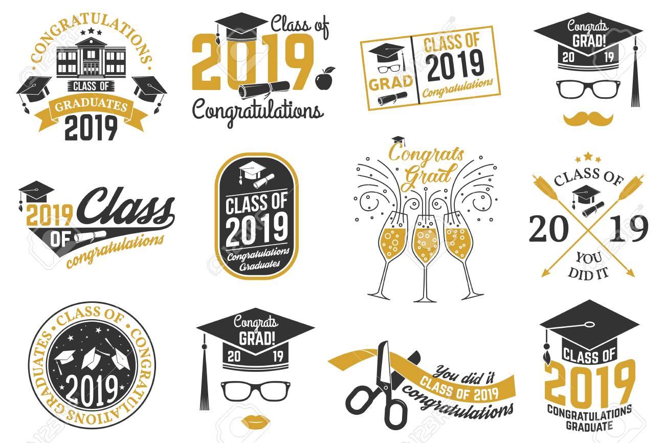 Vector Class of 2019 badge. - 103086473