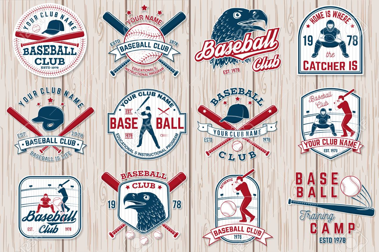 Set of baseball or softball club badge. Vector illustration. Concept for shirt or logo, - 111206607