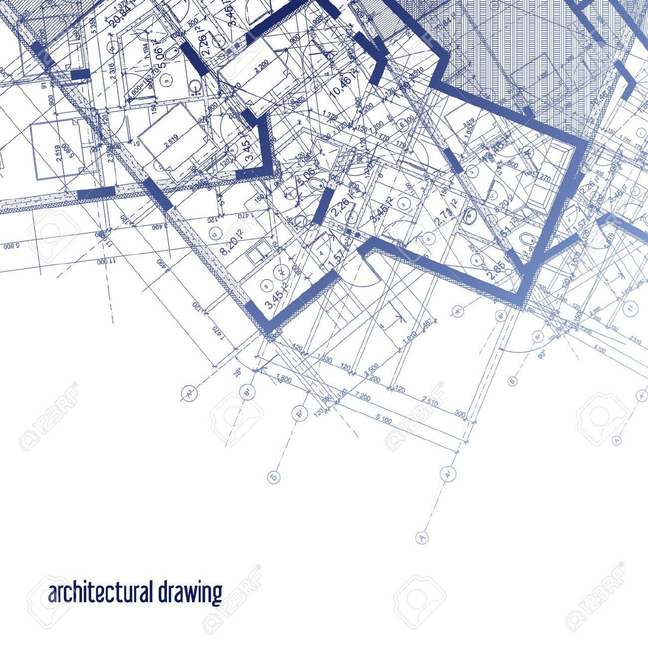 Architekturpläne. Ein Teil Der Architektonischen Gestaltung Des ...