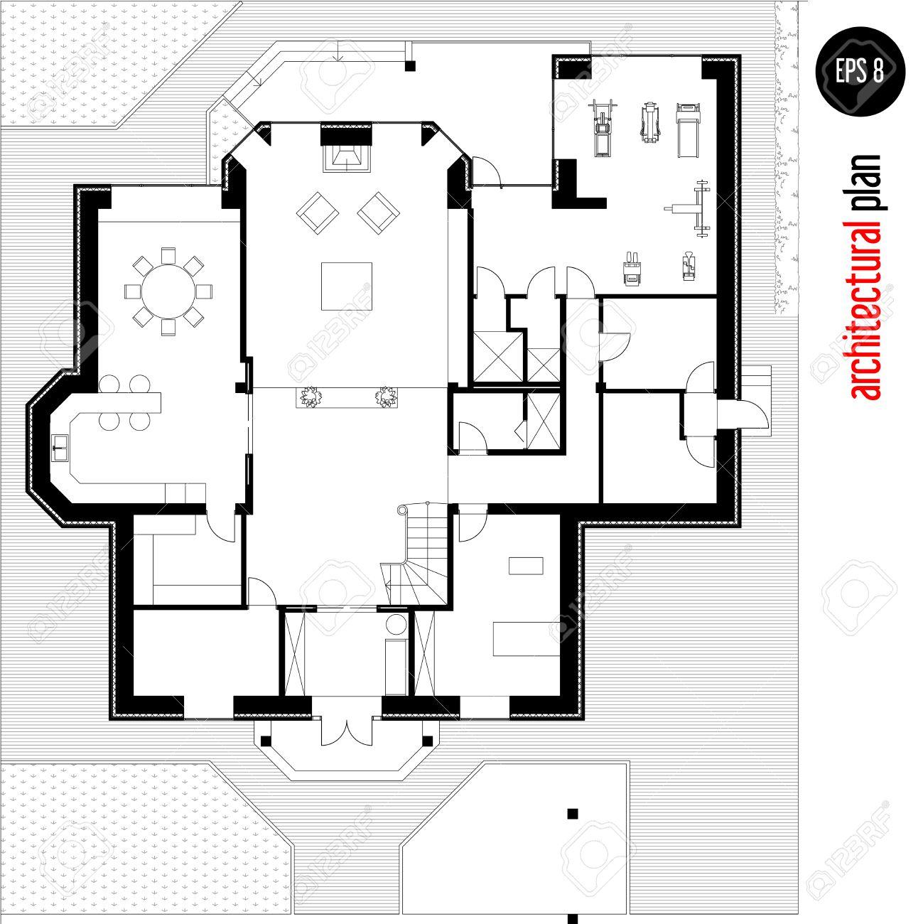 Cheap plan de maison dessin dessin de la mise en page duune maison with dessiner plans maison