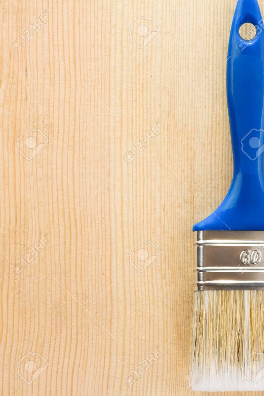 paintbrush on wood background texture Stock Photo - 11927241